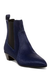 Marc By Marc Jacobs Lou Pointed Toe Genuine Calf Hair Chelsea Boot Blue