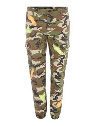 Replay Camouflage Pants With Patch Khaki