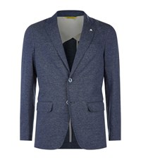 Canali Chambray Double Button Jacket Male Blue