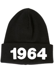 Dsquared2 Ribbed Beanie Black