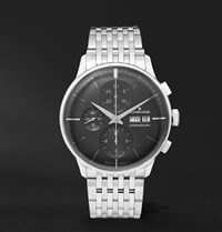 Junghans Meister Chronoscope 40Mm Stainless Steel Watch Ref. No. 27432445 Black