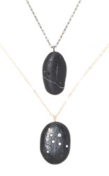 Cvc Stones Cygnus His And Hers Necklace Set Black