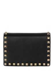 Valentino Rockstud Leather Chain Strap Clutch