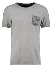 Bonobo Jeans Soudirty Print Tshirt Gris Chine Sport Mottled Grey
