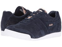 Gola Harrier Glimmer Suede Navy Rose Gold Women's Shoes