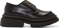 Kenzo Black Leather Chunky Derbys