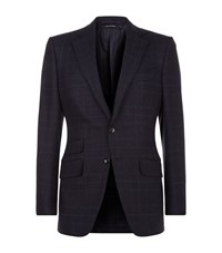 Tom Ford O'connor Prince Of Wales Tweed Jacket Male Navy
