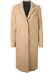 Msgm Knee Length Coat Nude And Neutrals
