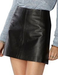 Bb Dakota Emerick Leather Mini Skirt Black