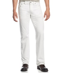 True Religion Ricky Relaxed Straight Jeans Optic White