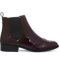 Miss Kg Sneek Brogue Patent Boots Wine