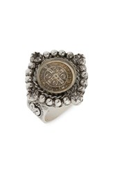 Virgins Saints And Angels Lil Bennie Ring Silver Clear