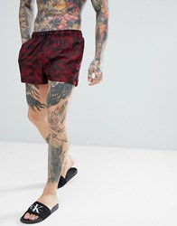Calvin Klein Jacquard Short Swim Shorts Red