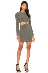 Becandbridge Montana Cut Out Long Sleeve Dress Olive