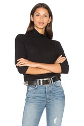 Velvet By Graham And Spencer Eada Long Sleeve Turtleneck Top Black
