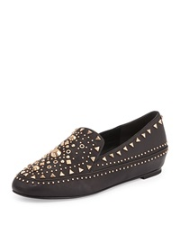 Ivy Kirzhner Studded Leather Loafer Black