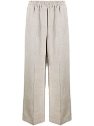 8Pm Pull On Wide Leg Trousers Neutrals