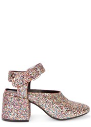 Maison Martin Margiela Glittered Block Heel Pumps Multicoloured