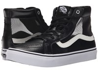 Vans Sk8 Hi Slim Cutout Mesh Black White Shoes