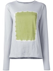 Suzusan Square Print Jumper Grey