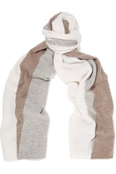 Magaschoni Color Block Cashmere Scarf Stone