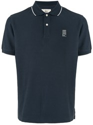 Kent And Curwen Embroidered Logo Polo Shirt Blue
