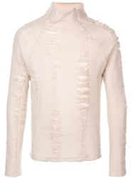 Cottweiler Mock Neck Jumper White
