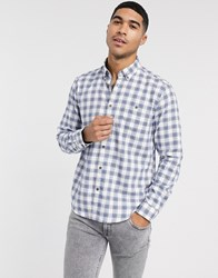 Esprit Checked Shirt In White