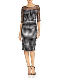 Tracy Reese Dot Print Dress Gray Dot
