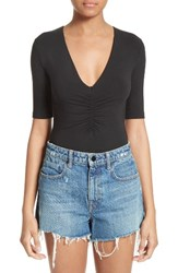 Alexander Wang Women's T By Ruched V Neck Tee