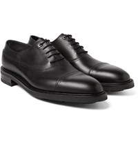 John Lobb Weir Panelled Leather Oxford Shoes Black