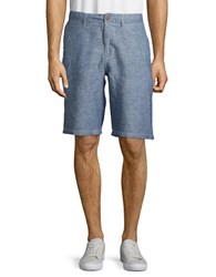 Lucky Brand Linen Chiyes Shorts Chambray