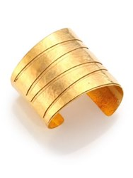Nest Hammered Cuff Bracelet Gold