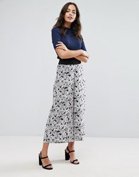 Warehouse Daisy Print Wide Leg Trouser Multi