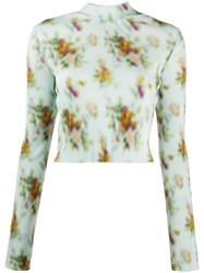 Frankie Morello Floral Printed Ribbed Top 60