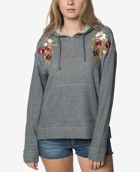 O'neill Juniors' Brianne Embroidered Hoodie Charcoal