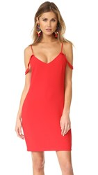 Wayf Luna Off Shoulder Dress Red