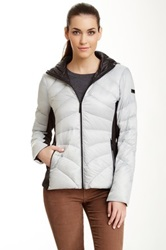 Vince Camuto Hooded Puffer Jacket Gray