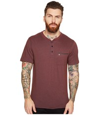 Hurley Lagos Dri Fit Lagos Henley Mahogany Men's Clothing