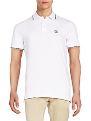Just Cavalli Embroidered Logo Polo Shirt White