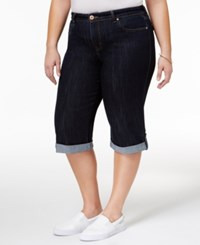 Style And Co Plus Size Denim Caneel Wash Skimmer Shorts Only At Macy's
