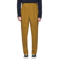 Maison Kitsune Tan Pleated Trousers