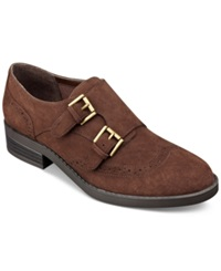 Indigo Rd. Upton Monk Strap Oxfords Women's Shoes Brown