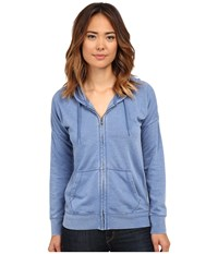 Volcom Lived In Fleece Zip Top Royal Women's Long Sleeve Pullover Navy