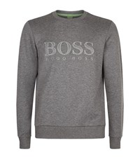 Hugo Boss Green Salbo Crew Sweatshirt Male Grey
