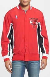 Mitchell And Ness Men's Big Tall 'Chicago Bulls' Authentic Warm Up Jacket Red Dark 2