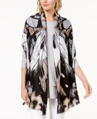 Inc International Concepts I.N.C. Butterfly Wing Soft Wrap Grey