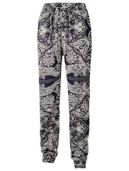 Fat Face Printed Bandana Trousers Navy