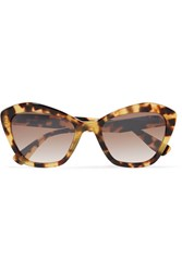 Miu Miu Cat Eye Tortoiseshell Acetate Sunglasses One Size