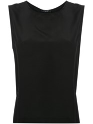 Roberto Collina Back Zipped Blouse Black